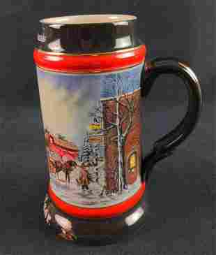 Budweiser Anheuser Bush Stein Perfect Christmas 1992