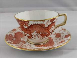 Vintage Sutherland Fine China Dragon Cups Saucers