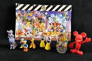Lot Of 9 Vintage Mixed Walt Disney Characters Snow