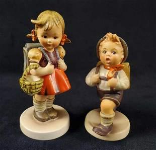 Hummel Goebel Figurine School Girl And School Boy