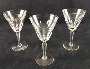 Waterford Crystal Three Water Goblets Sheila Cut A