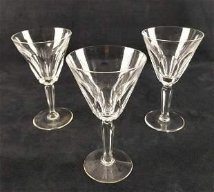 Waterford Crystal Three Water Goblets Sheila Cut B