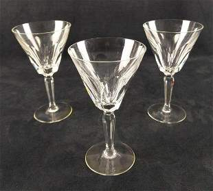 Waterford Crystal Three Water Goblets Sheila Cut C