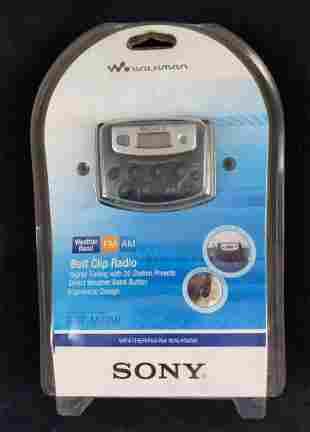 Sony Walkman Belt Clip Radio SEALED Weather FM AM