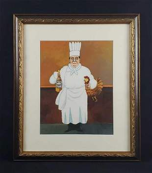Guy Buffet Italian Chef Wine and Rooster AP