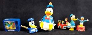 Lot of 5 Vintage Disney Donald Duck Toys