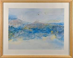 Framed Abstract Scenery Print