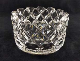 Orrefors Sofiero Bowl Glass Cut Crystal Faceted