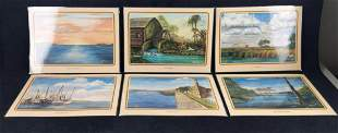 21 Mary Quinnan Whittle Old Florida Art Placemats D