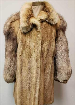 Olivier Fox and Mink Fur Coat