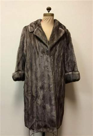 Lutetica Mink Fur Coat Jacket Vintage Fashion