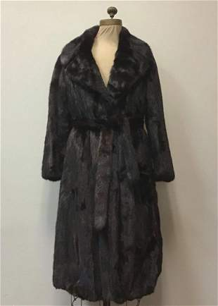 Ranch MInk Fur Coat Jacket Vintage Fashion