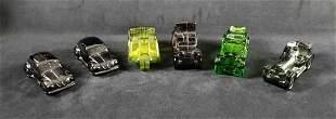 Avon Glass Car Lot of 6