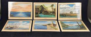 14 Mary Quinnan Whittle Old Florida Art Placemats B