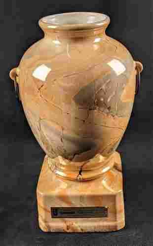 Vintage Jim Beam Whiskey Decanter Bottle Marble Vase A