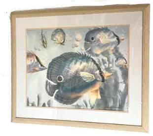 Richard E. Williams Lithograph Tropical Fish III