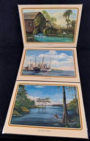 13 Mary Quinnan Whittle Old Florida Art Placemats E