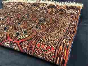 Antique Hand Noted Geometric Wool Oriental Prayer Rug