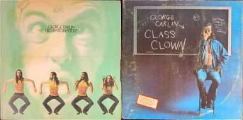 2 Classic George Carlin LP Vinyl Records