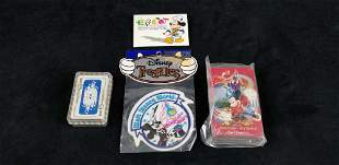 Walt Disney World and Mickey Mouse Card Patch Lot of 4
