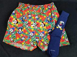 Disney Christmas Boxer Shorts Mickey Goofy Pluto