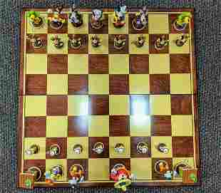 Very Rare Disney Walts Cargo Very Large Chess Set With