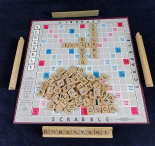 Vintage Scrabble Board Game Selchow And Righter