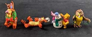 Lot Of Four Winnie The Pooh Hallmark Keepskae Ornaments