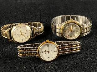 Vintage Lot Of 3 Timex Wrist Watches