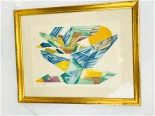 Abstract Flying Geese Color Print