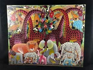 Original East Africa Artist Signed Hamadi Traditional