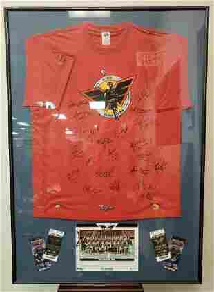 2005 Philadelphia Wings Framed Signed Shirt