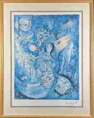 Marc Chagall Bella Framed Limited Editon Print W3