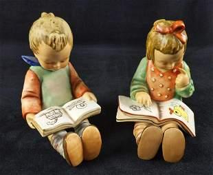 Vintage Hummel Bookworm Boy And Girl TMK6