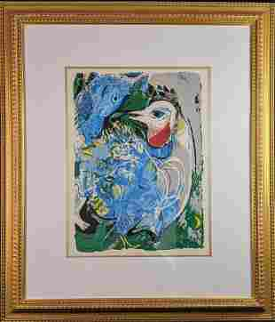 Framed Marc Chagall Interpretation Litho Mural X9