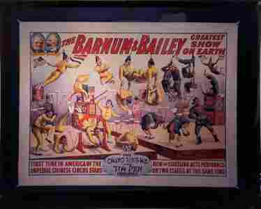 Barnum & Bailey Circus Poster Transparency Chinese