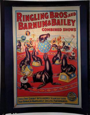 Ringling Brothers Barnum Circus Poster Transparency