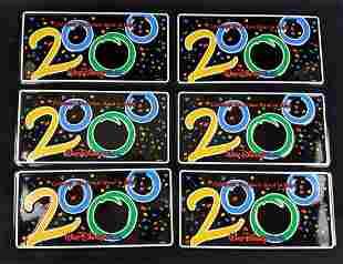 Six Disney World License Plates 2000 Mickey Donald