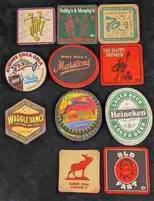 Vintage Fun Bar Beer Coasters Lot Of 28