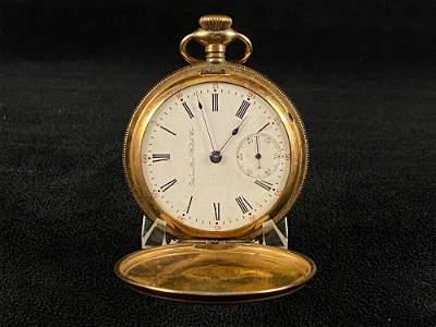 Antique Timepiece Hamilton Gold Plated 1904 Gade 925