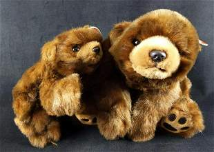 Ty Beanie Buddies Paws And Baby Paws Bears