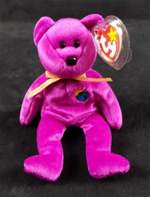 Rare TY Millenium Bear Beanie Baby With Errors