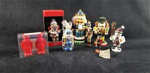 Christmas Nutcracker Candle Ornament Light Lot of 7