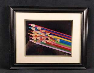 Framed Signed Joe Rotruck Colored Pencils Print
