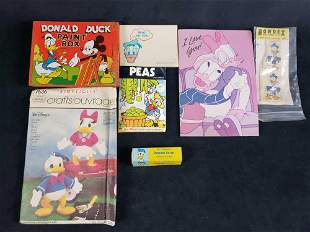 Lot of 7 Disney Donald Duck Vintage Advertising Product