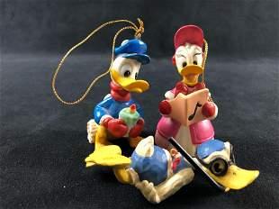 A Lot of 3 Vintage Donald Daisy Duck Porcelain