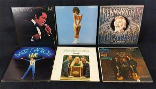 Six Vintage Music Classic Voices Vinyl LP Records