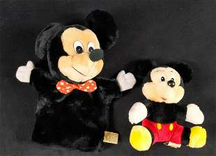 Vintage Disney Mickey Mouse Doll And Hand Puppet