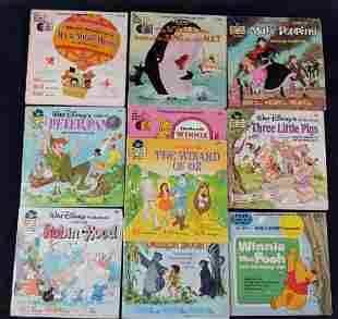 10 Vintage Disney Book And Playing Records