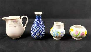 Vintage Bone China Ceramic Lot Of 4 Creamer Planter